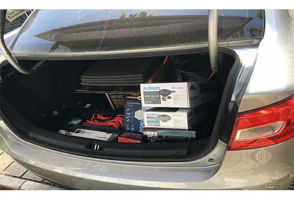 نصب سیستم صوتی بر روی ماشین faw B30 (بسترن)